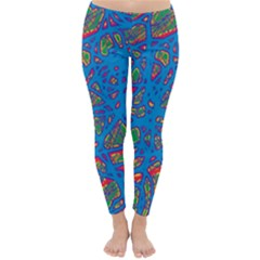 Colorful neon chaos Winter Leggings