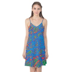 Colorful neon chaos Camis Nightgown