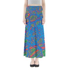 Colorful Neon Chaos Maxi Skirts