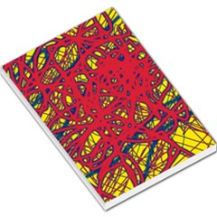 Yellow and red neon design Large Memo Pads