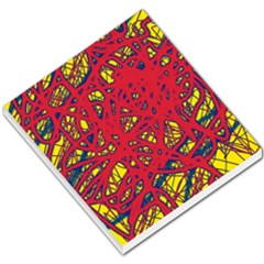 Yellow and red neon design Small Memo Pads