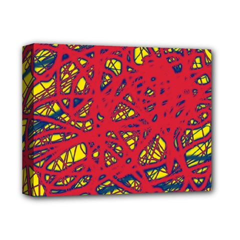 Yellow and red neon design Deluxe Canvas 14  x 11