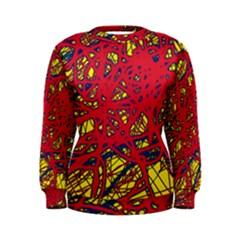 Yellow and red neon design Women s Sweatshirt