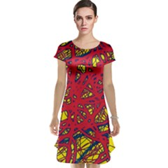 Yellow and red neon design Cap Sleeve Nightdress