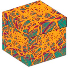 Orange neon chaos Storage Stool 12