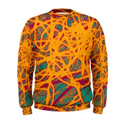 Orange neon chaos Men s Sweatshirt