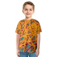Orange neon chaos Kid s Sport Mesh Tee