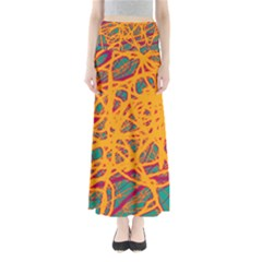 Orange Neon Chaos Maxi Skirts