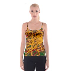 Yellow neon chaos Spaghetti Strap Top