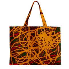 Yellow neon chaos Zipper Mini Tote Bag