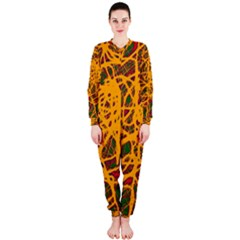 Yellow neon chaos OnePiece Jumpsuit (Ladies)