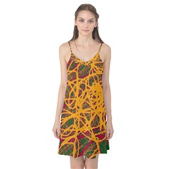 Yellow neon chaos Camis Nightgown