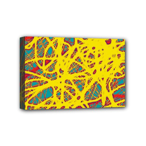 Yellow neon Mini Canvas 6  x 4