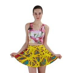 Yellow neon Mini Skirt