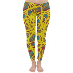 Yellow neon Winter Leggings