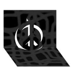 Gray Peace Sign 3D Greeting Card (7x5)