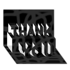 Gray THANK YOU 3D Greeting Card (7x5)
