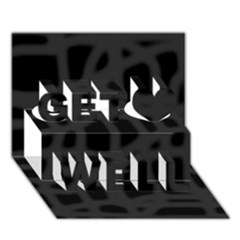 Gray Get Well 3D Greeting Card (7x5)