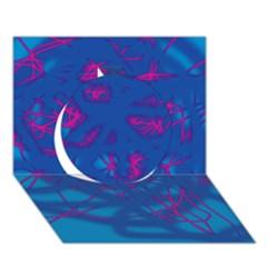 Deep blue Circle 3D Greeting Card (7x5)
