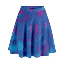 Deep Blue High Waist Skirt