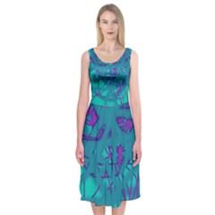 Chaos Midi Sleeveless Dress