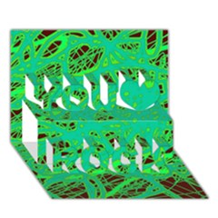 Green neon You Rock 3D Greeting Card (7x5)
