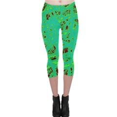 Green neon Capri Leggings