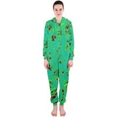 Green neon Hooded Jumpsuit (Ladies)