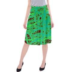 Green neon Midi Beach Skirt