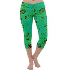 Green neon Capri Yoga Leggings