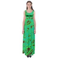 Green neon Empire Waist Maxi Dress