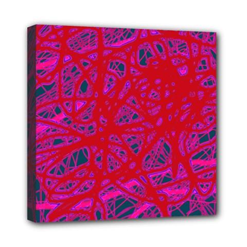 Red neon Mini Canvas 8  x 8
