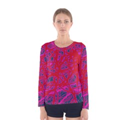 Red neon Women s Long Sleeve Tee