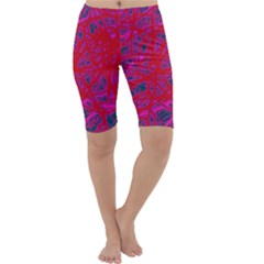 Red neon Cropped Leggings