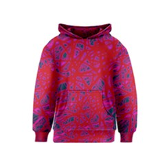 Red neon Kids  Pullover Hoodie