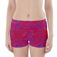 Red neon Boyleg Bikini Wrap Bottoms