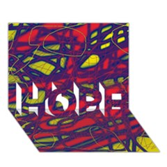 Abstract high art HOPE 3D Greeting Card (7x5)