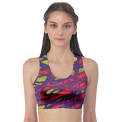 Abstract high art Sports Bra
