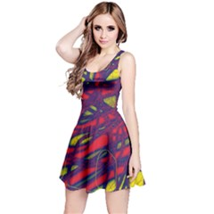 Abstract high art Reversible Sleeveless Dress
