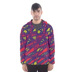 Abstract high art Hooded Wind Breaker (Men)