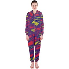 Abstract high art Hooded Jumpsuit (Ladies)