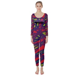 Abstract high art Long Sleeve Catsuit