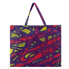 Abstract High Art Zipper Large Tote Bag