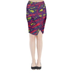 Abstract high art Midi Wrap Pencil Skirt