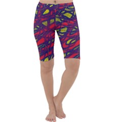 Abstract high art Cropped Leggings