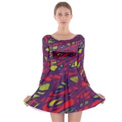 Abstract high art Long Sleeve Skater Dress