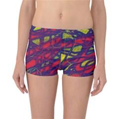 Abstract high art Reversible Boyleg Bikini Bottoms