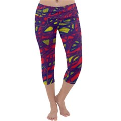 Abstract high art Capri Yoga Leggings