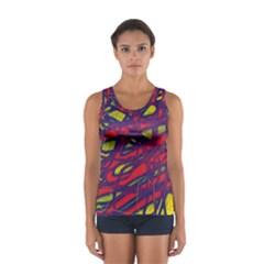Abstract High Art Women s Sport Tank Top