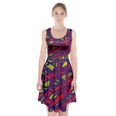 Abstract high art Racerback Midi Dress